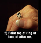 how to use your pepper spray ring